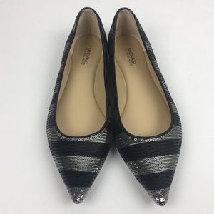 Michael Kors Arianna Striped Sequence Point Toe 6